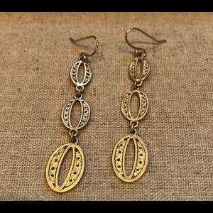 Stella & Dot Long Oval Trio Earrings